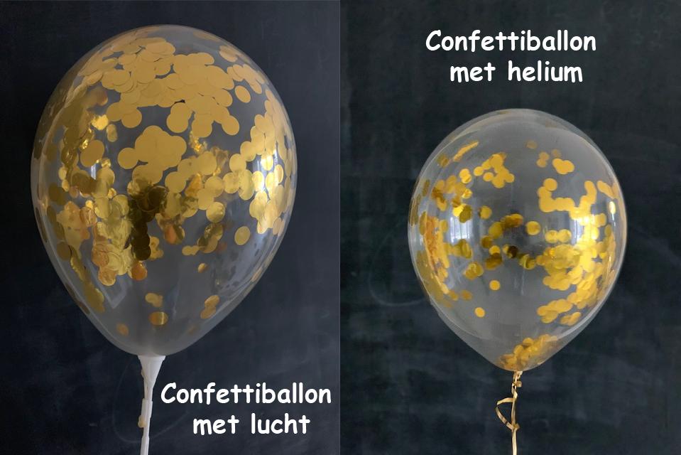 Hoe blijft de Confetti plakken in Confetti Ballonnen