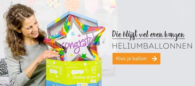 Vandaag nog een helium ballon versturen