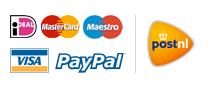 Betaal veilig met Ideal en Paypal. Verzendt snel via PostNL