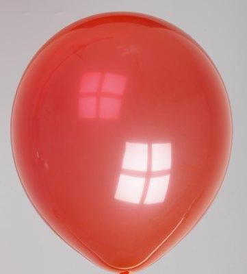 Ballon kristal-helderrood 50dc
